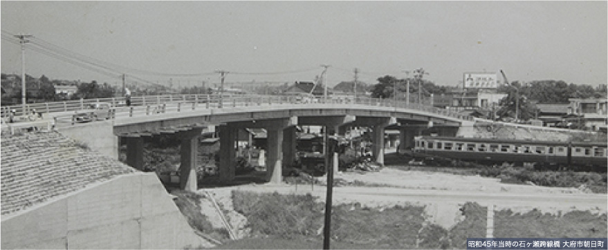昭和45年当時の石ヶ瀬跨線橋 大府市朝日町
